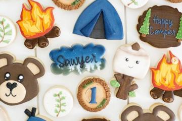 Custom Camping Cookies